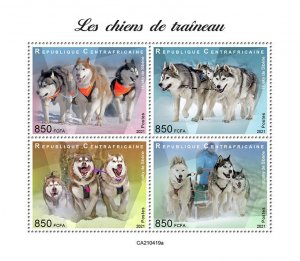C A R - 2021 - Sledge Dogs - Perf 4v Sheet - Mint Never Hinged