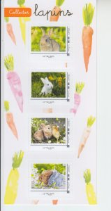 2019 France Rabbits MS4   SA (Scott NA) MNH