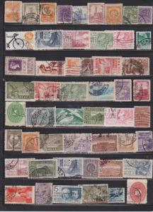 LOT OF DIFFERENT STAMPS OF MEXICO USED (52) LOT#195