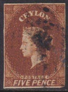 Ceylon 1857-1859 SC 6 Used