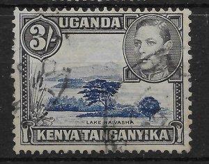 KENYA, UGANDA & TANGANYIKA SG147ab 1947 3/= DAMAGE ON MOUNTAIN VAR USED