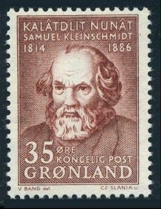 Greenland 68 two stamps, MNH. Mi 64. Samuel Kleinschmidt, philologist, 1964.