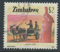 Zimbabwe  SG 679  SC# 513 Used Scotch Cart   see detail and scan