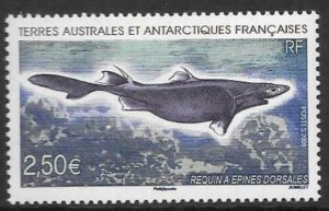 FRENCH SOUTHERN & ANTARCTIC TERRITORIES SG619 2009 SHARK  MNH