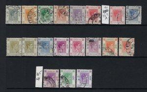 HONG KONG SCOTT #155-159/159B-164A/165A/166A 1938-52 GEORGE VI PARTIAL SET- USED