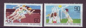 J24974 JLstamps 1982 germany berlin set mnh #9nb191-2 sports