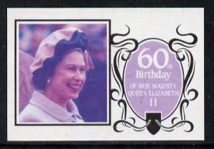 Tuvalu - Nanumaga 1986 Queen's 60th Birthday $1.75 imperf...