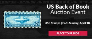 US Back of Book Auction #21