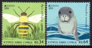 CYPRUS 2021 EUROPA CEPT WILD ANIMALS ENDANGERED WILDLIFE [#2104]