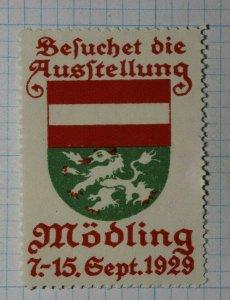 Beluchet die Ausstellung Modling 1929 Exposition Poster Stamp Ads