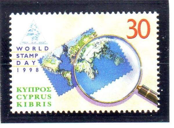 Cyprus Sc 924 1998 World Stamp Day stamp mint NH