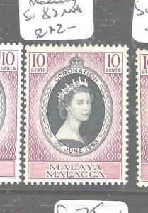 MALAYA MALACCA (P2704B) QEII CORONATION SG 82    MNH