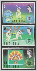 ANTIGUA ISLAND STAMP 1972 SCOTT # 297 - 99. UNUSED.