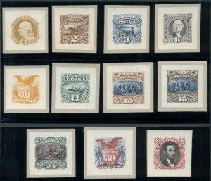 US #112P2/122P2, 1¢ - 90¢ Complete set of Roosevelt Small Die Proofs, Scott $4K