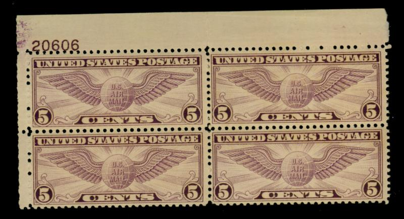 C16 MINT Plate Block F-VF OG NH Cat$100