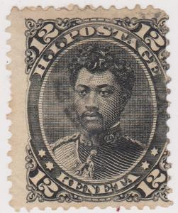 Hawaii - #36 1875 Prince William Pitt Leleiohoku Used