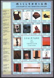 Saint Vincent and the Grenadines. 1999. Small sheet 4726-42. Millennium, famo...