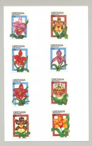 Grenada (Grenadines) #1144-1153 Orchids, Expo 90 8v & 2v S/S Imperf Proofs