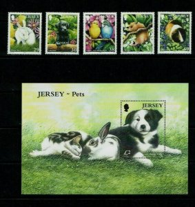 Jersey: 2003, Pets, MNH set + Miniature sheet.