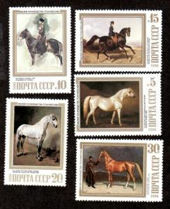 Russia MNH 5694-8 Horse Equestrian Paintings SCV 2.35