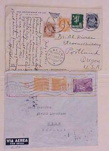 NORWAY 1935 FROM BRAZIL also 1925 ANDALSNES