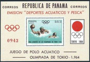 Panama 454Ef,MNH.Michel Bl.21. Olympics Tokyo-1964.Water polo.