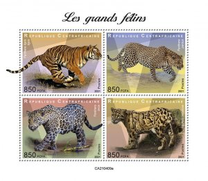 C A R - 2021 -Big Cats - Perf 4v Sheet - Mint Never Hinged