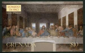 GRENADA  2019 500th MEMORIAL OF  LEONARDO DA VINCI LAST SUPPER S/SHEET MINT NH