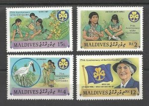 1987 Maldive Islands Girl Scout 75th anniversary