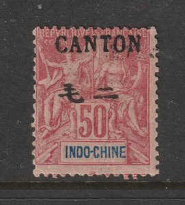 Canton (French PO) a MH 50c from the 1906 set