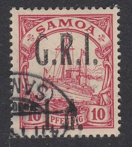 SAMOA 1914 GRI opt on German Samoa : 1d on 10pf used ........ ..............C491
