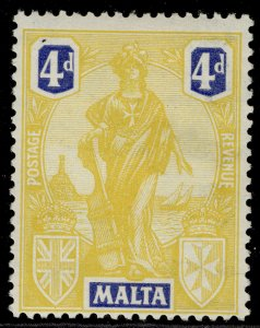 MALTA GV SG132, 4d yellow & bright blue, NH MINT.