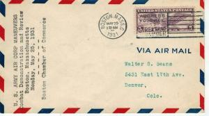 US Army Air Corp Maneuvers Combat Demonstration Boston MA 5/25/1931 Airmail