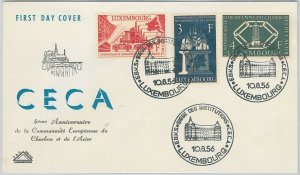 56223 - LUXEMBOURG - POSTAL HISTORY: MICHEL 552 /4  FDC COVER 1956 ARCHITECTURE