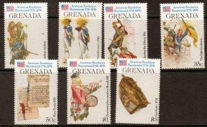 GRENADA SG785/91 1976 BICENTENARY OF AMERICAN REVOLUTION MNH