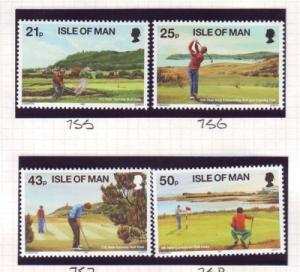 Isle of Man Sc 752-5 1997 Golf stamp set mint NH