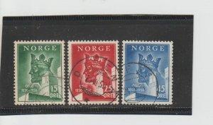 Norway  Scott#  304-6  Used  (1950 King Anniversary of Oslo)