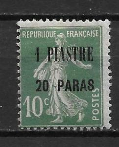 French Offices in Turkey 43 1pi20pa single MH