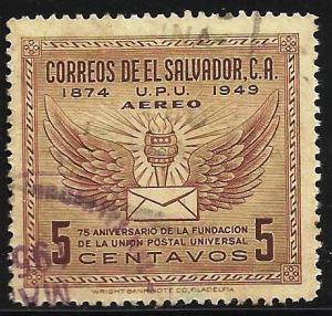 El Salvador Air Mail 1949 Scott# C122 Used