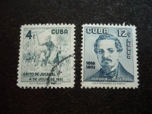 Stamps - Cuba - Scott# 573,C162 - Mint Hinged & Used Set of 2 Stamps