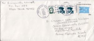 Caroline Islands Micronesia 1c Fernandez de Quiros (2) and 4c Dumond d'Urvill...