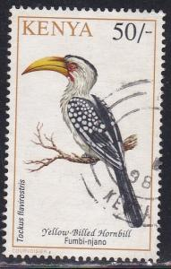 Kenya # 608, Yellow-billed Hornblower, Used, 1/3 Cat.