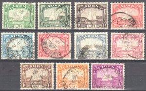 ADEN 1937 Scott #1/11 USED Cat £400 / $239.75US