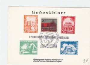 Germany 1964 philatelic exhibition  stamps card R21169
