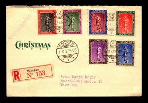 Luxembourg 1937 Christmas Series FDC / Cacheted / Open Top - L11161