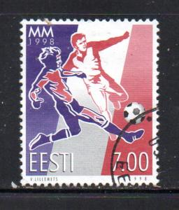 Estonia Sc 341 1998 Soccer World Cup stamp used