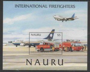 NAURU #508  2002 INTERNATIONAL FIRE FIGHTERS      MINT  VF NH  O.G S/S