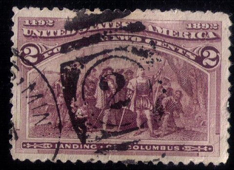 US SCOTT #231 USED NO.2 CANCELLATION VERY FINE