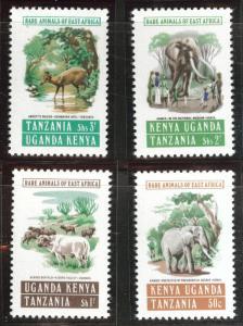 Kenya Uganda and Tanganyika KUT Scott 152-5 MH* 1965 ITU set