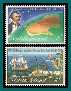 Norfolk Island 1970 Captain Cook, MNH  #141-142,SG118-SG119